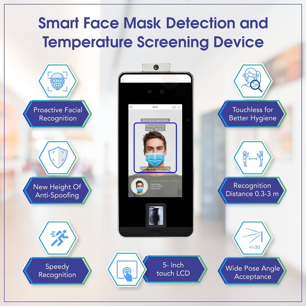Face Mask Detection and Temperature Screening Contact-less Device